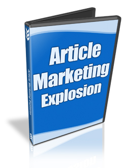 Article Marketing Explosion Cover