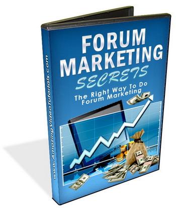 forum marketing secrets DVD Cover