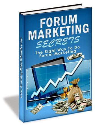 forum marketing secrets ebook